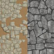 Rock tegels 3d model
