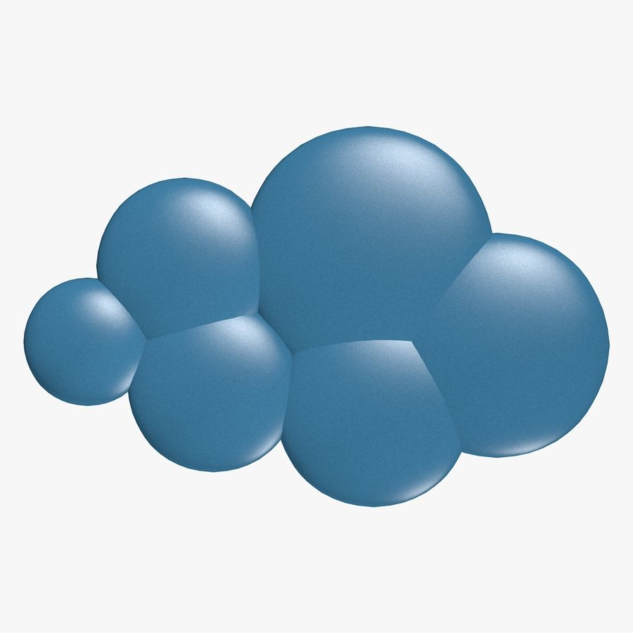Cartoon Clouds royalty-free 3d model - Preview no. 6