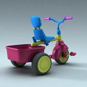 rower dla dzieci 3d model