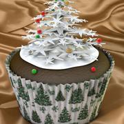 Snowflake Cupcake 3d model