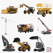 İnşaat Araçları Arma Koleksiyonu 3D Modelleri 3d model