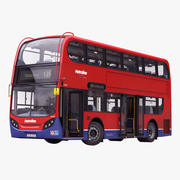 London Bus Enviro400 Rigged Modèle 3D 3d model