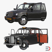 Coleção London Cabs Rigged 3d model