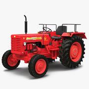 Трактор Mahindra 395 DI Rigged 3D Модель 3d model