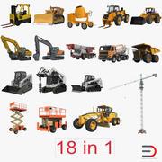 Большая коллекция промышленных транспортных средств 3d model