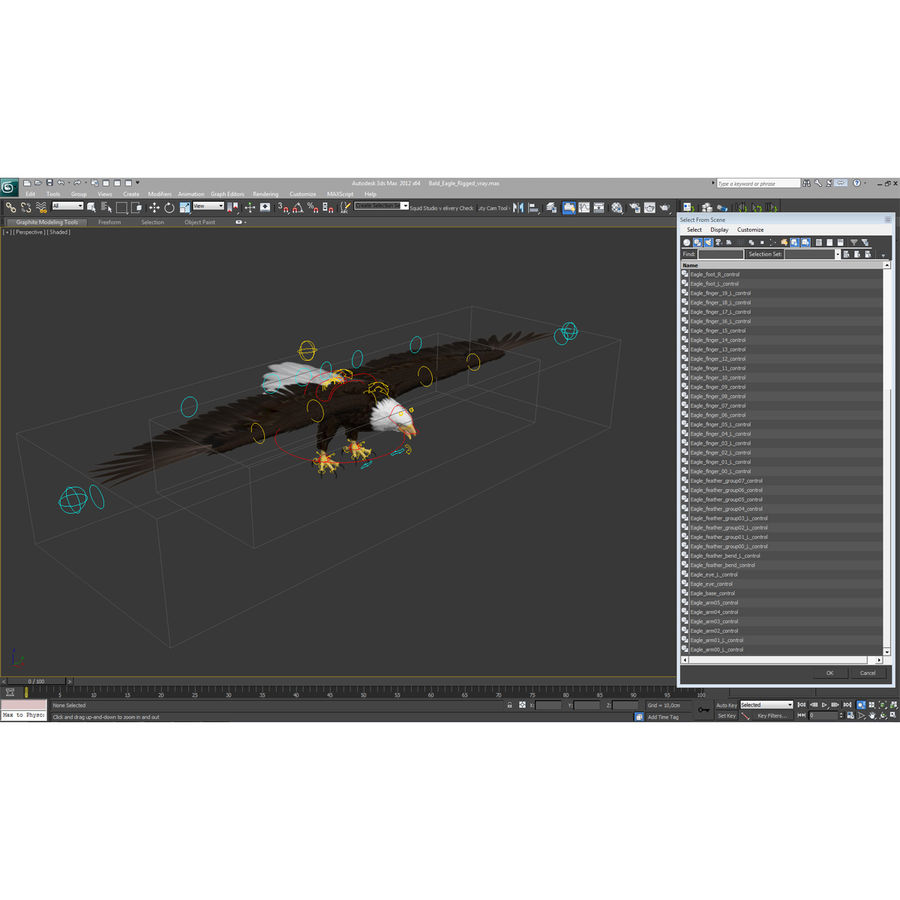 Bald Eagle Animated royalty-free 3d model - Preview no. 65