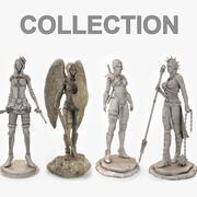 Statua di donna 3d model