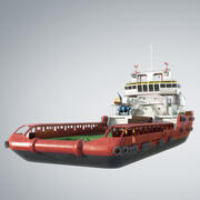 Embarcação offshore multifuncional KVP 3d model