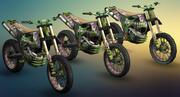 Apocalyptic Dirt Bike 3d model