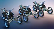 Dirt Bike - Trike 3d model