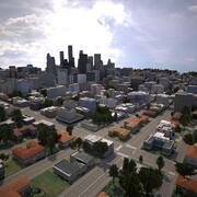 Cidade em tempo real 09 3d model