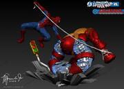 Fantastisk Spiderman vs Colossus 3d model