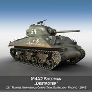 M4A2 Sherman - Yok edici 3d model