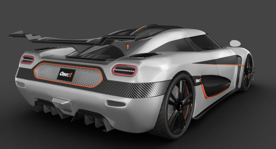 Koenigsegg One royalty-free 3d model - Preview no. 9