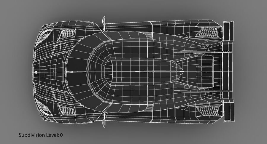 Koenigsegg One royalty-free 3d model - Preview no. 23