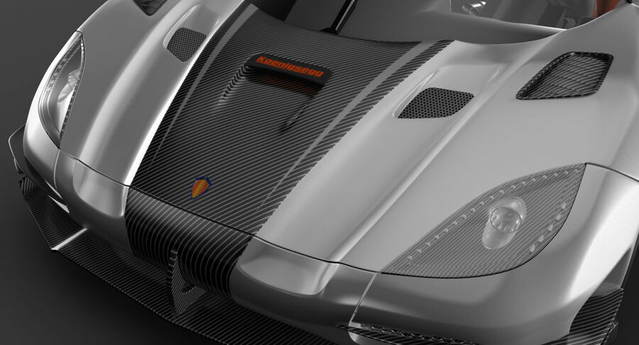 Koenigsegg One royalty-free 3d model - Preview no. 8