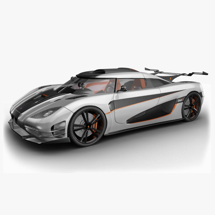 Koenigsegg One royalty-free 3d model - Preview no. 1