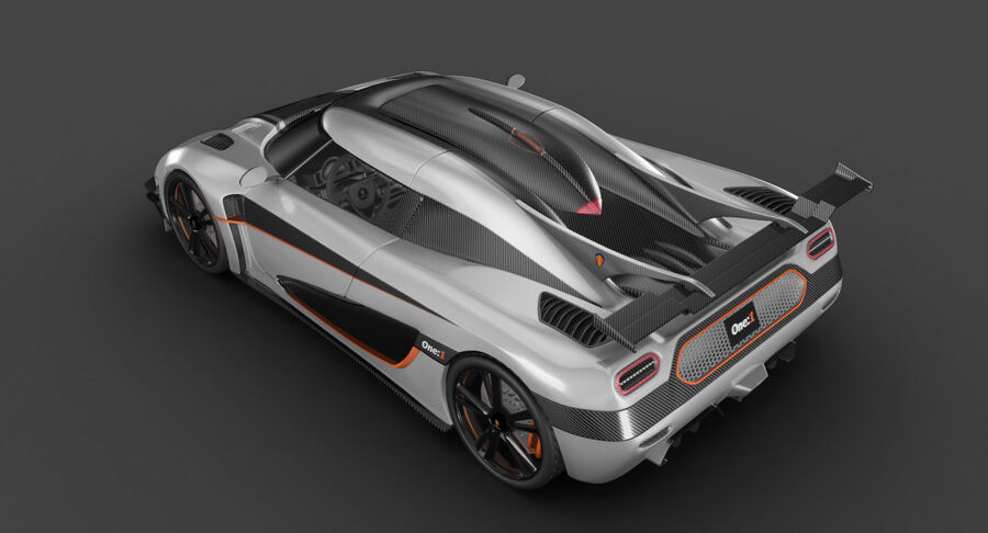 Koenigsegg One royalty-free 3d model - Preview no. 16