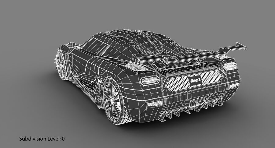 Koenigsegg One royalty-free 3d model - Preview no. 21