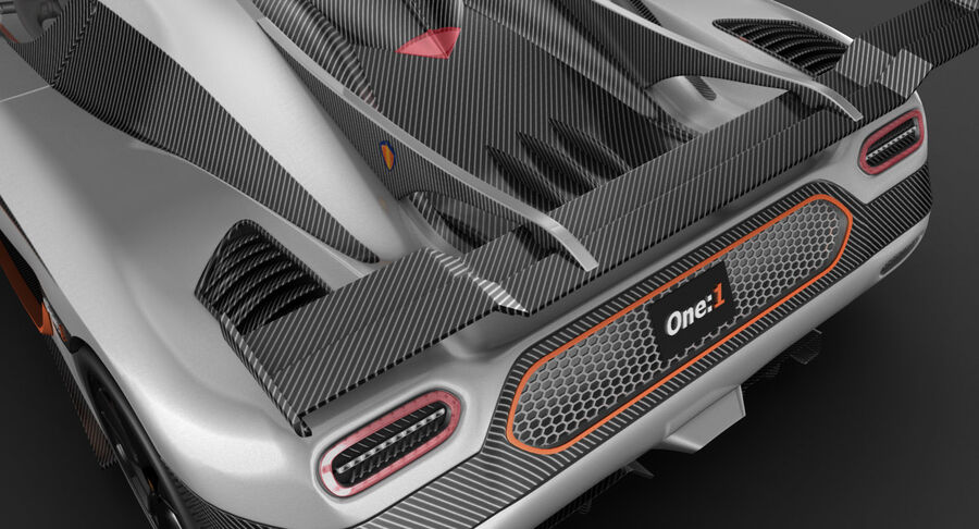 Koenigsegg One royalty-free 3d model - Preview no. 11