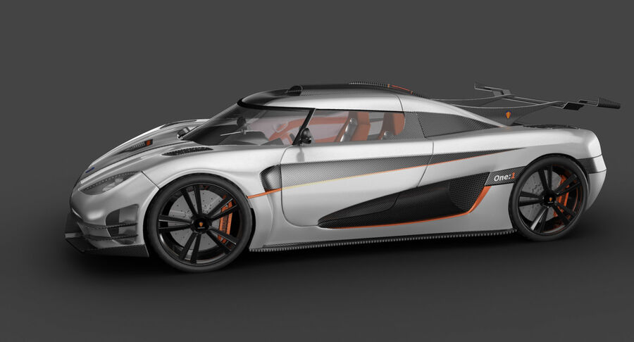 Koenigsegg One royalty-free 3d model - Preview no. 12