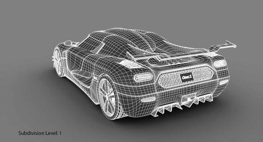Koenigsegg One royalty-free 3d model - Preview no. 22