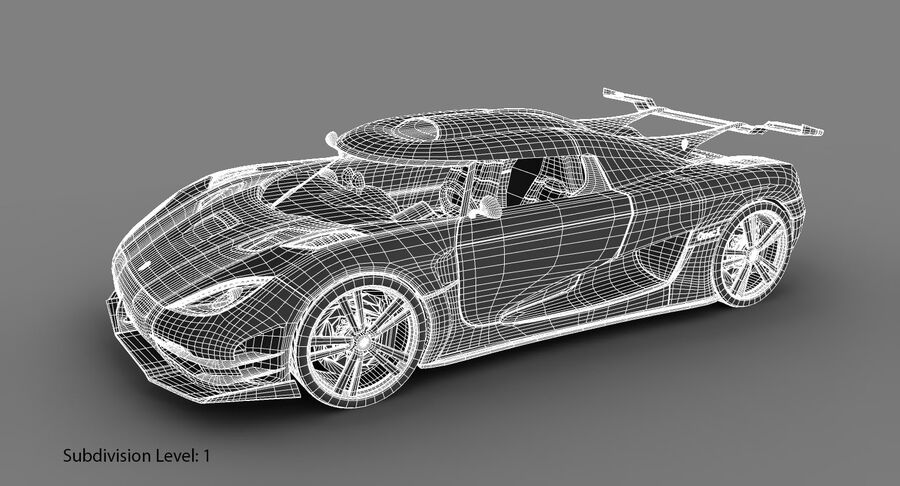 Koenigsegg One royalty-free 3d model - Preview no. 20