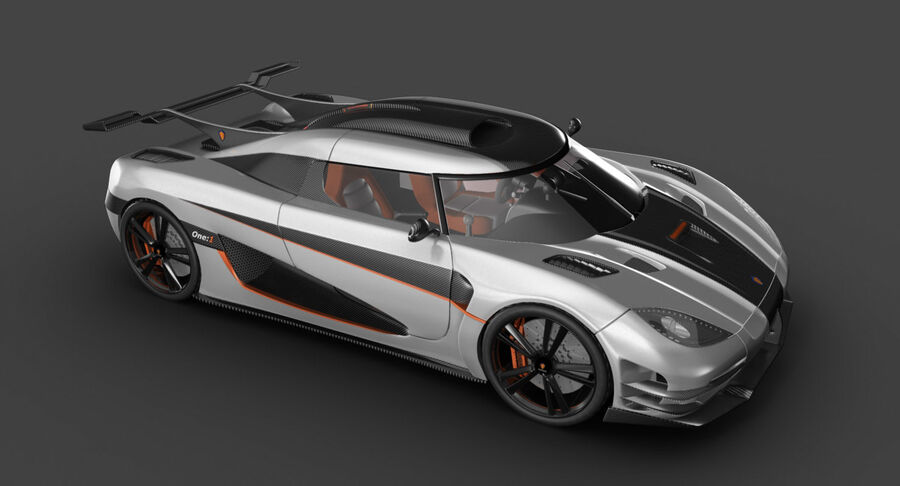 Koenigsegg One royalty-free 3d model - Preview no. 6