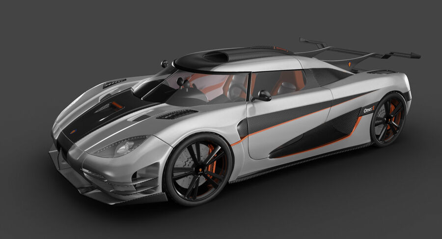 Koenigsegg One royalty-free 3d model - Preview no. 14