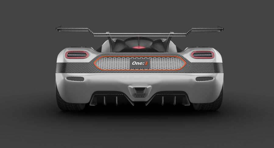 Koenigsegg One royalty-free 3d model - Preview no. 10