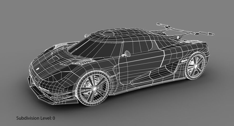 Koenigsegg One royalty-free 3d model - Preview no. 18