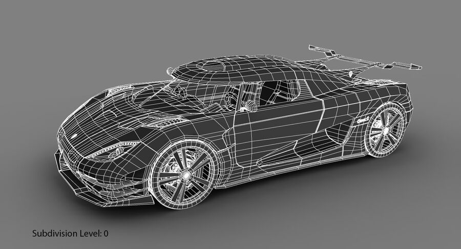 Koenigsegg One royalty-free 3d model - Preview no. 19