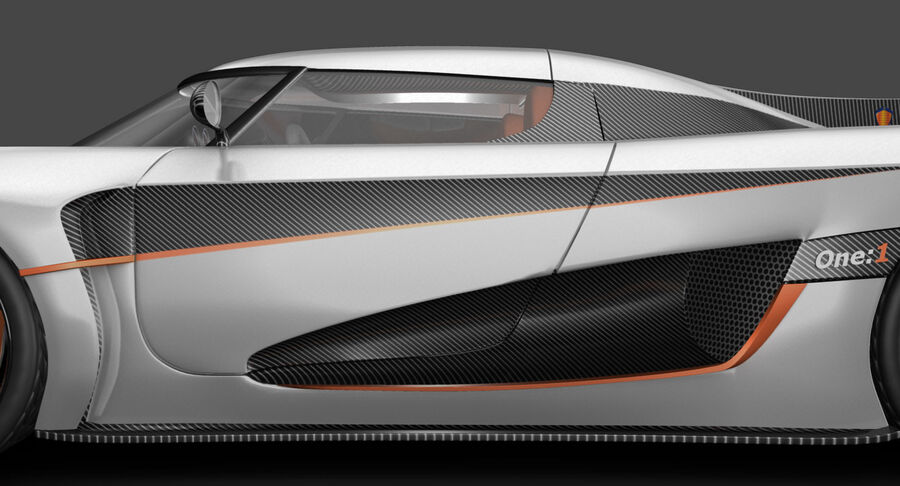 Koenigsegg One royalty-free 3d model - Preview no. 13