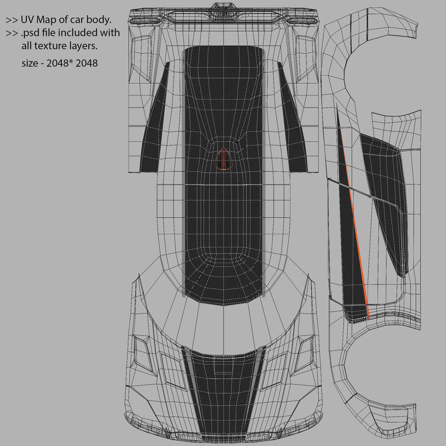 Koenigsegg One royalty-free 3d model - Preview no. 17