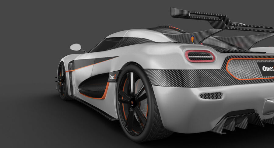 Koenigsegg One royalty-free 3d model - Preview no. 15