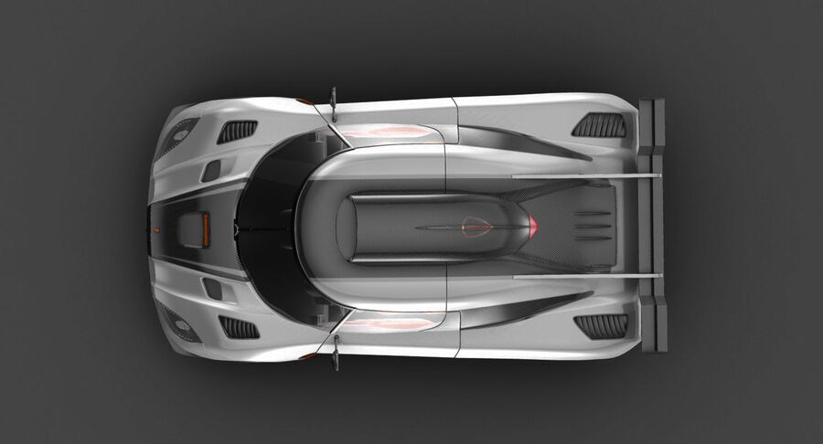 Koenigsegg One royalty-free 3d model - Preview no. 7