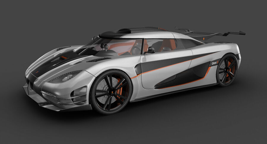 Koenigsegg One royalty-free 3d model - Preview no. 3