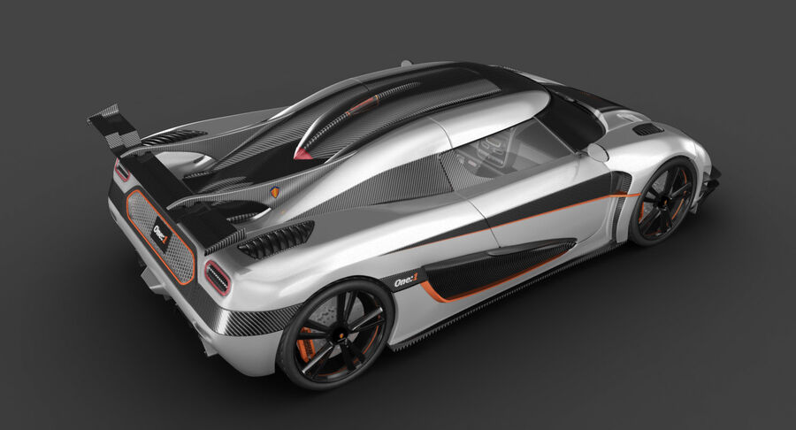 Koenigsegg One royalty-free 3d model - Preview no. 5