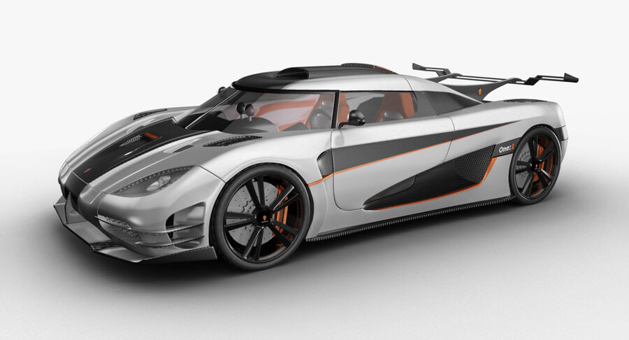 Koenigsegg One royalty-free 3d model - Preview no. 2