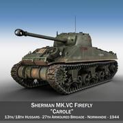 M4 Sherman MK VC Firefly - Carole 3d model