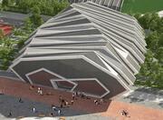 Modern täckt stadion 3d model