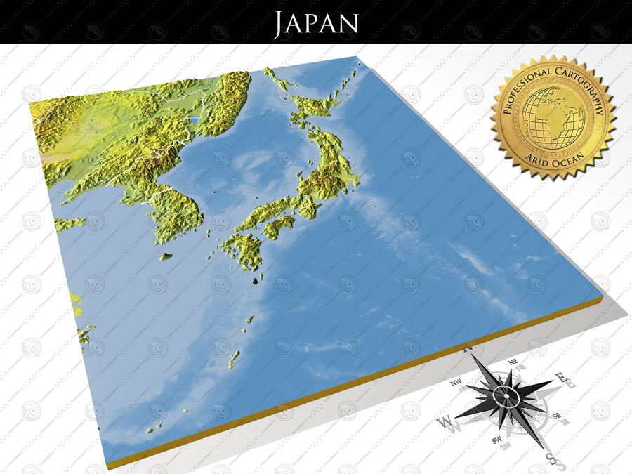 日本、高解像度3Dレリーフマップ royalty-free 3d model - Preview no. 1