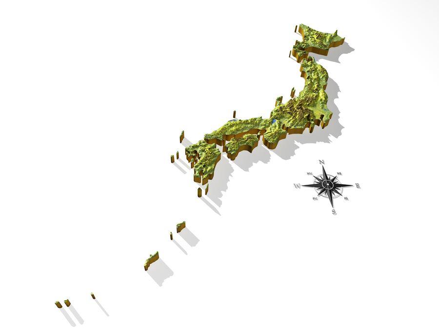 日本、高解像度3Dレリーフマップ royalty-free 3d model - Preview no. 10