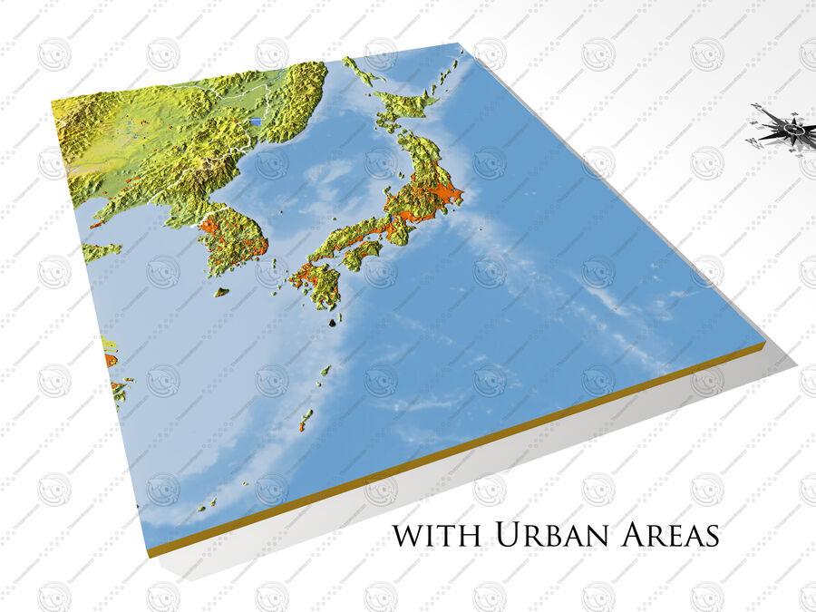 日本、高解像度3Dレリーフマップ royalty-free 3d model - Preview no. 9