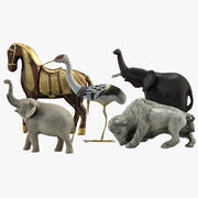 Animal Statues 3d model