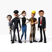 Kolekcja ludzi kreskówek 3d model
