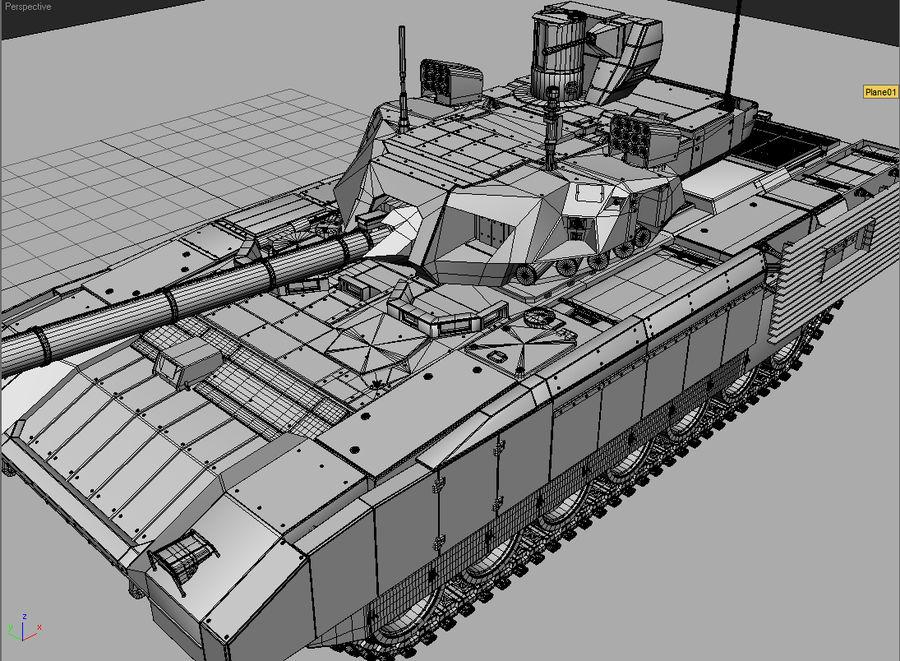 T-14 ARMATA royalty-free 3d model - Preview no. 9