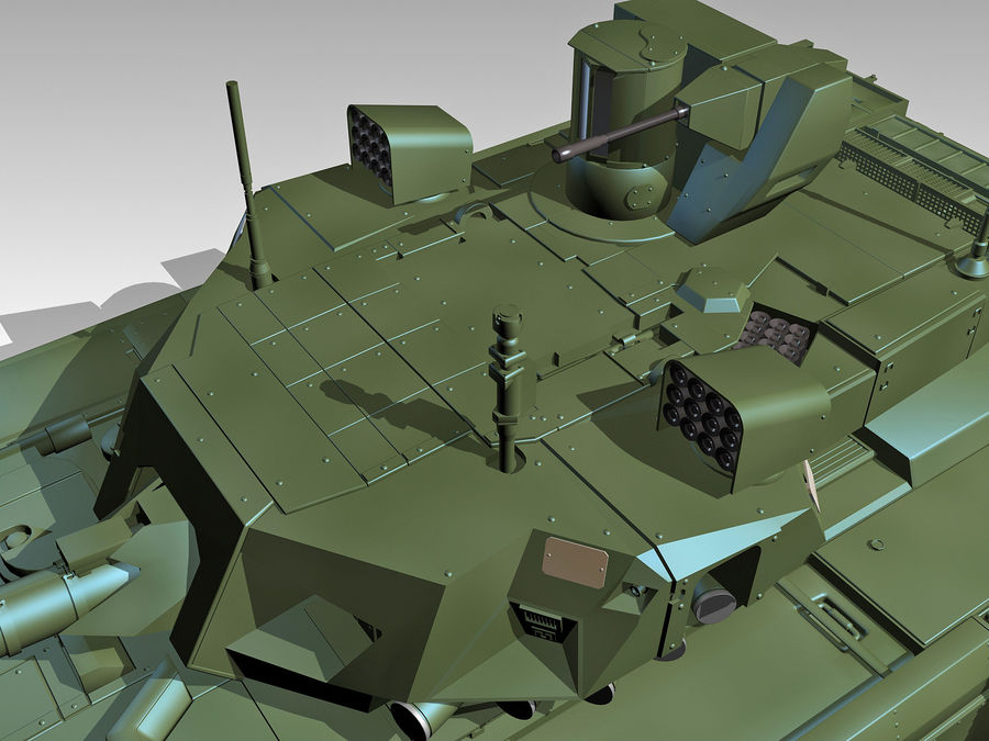 T-14 ARMATA royalty-free 3d model - Preview no. 5