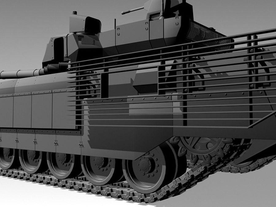 T-14 ARMATA royalty-free 3d model - Preview no. 8