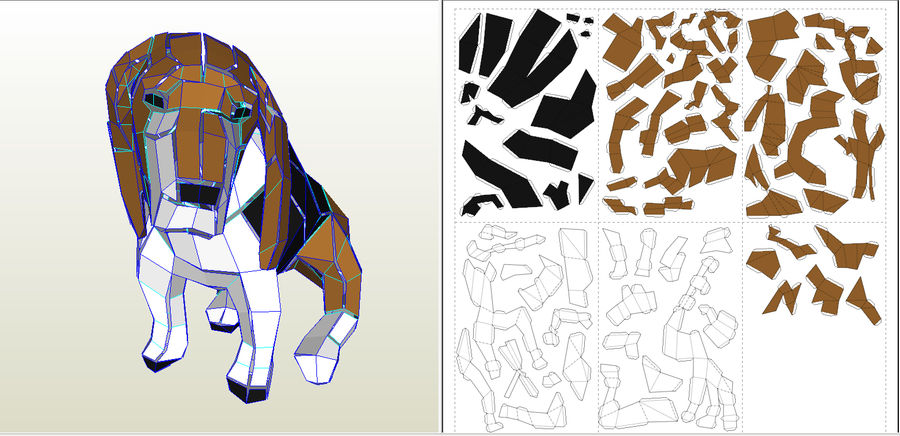 Papier de chien royalty-free 3d model - Preview no. 9